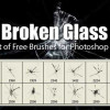 割れたガラスを表現するphotoshopブラシ「High-Res Photoshop Brushes for Creating Broken Glass Effect」