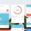 フラットデザインのフリーUIキットを集めた「20 Fresh Flat UI Designs Free to Download」