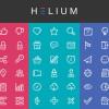 ポップなテイストが特徴のラインアイコンセット「Free Download : Helium Icon Set」