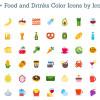 【商用可】食べ物・飲み物アイコンセットの決定版「100 Colored Food & Drink Icons」