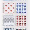 水彩で描かれたオシャレなシームレスなパターンセット「Watercolor Seamless Patterns」