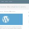 マテリアルデザインを取り入れたフリーワードプレステーマ「10 Free WordPress Themes that Utilize Material Design」