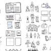 430種類もの手描き風イラストがセットになった「430+ FREE storyboard illustrations by Julian Burford」