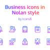 フレンドリーな印象を与えるグラデーションビジネスアイコン「Free Download: 48 Nolan Business Icons by Icons8」