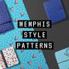 トレンドをおさえたスタイリッシュなデザインが魅力 シームレスメンフィスパターン集「10 Memphis Style Patterns」