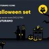 ハロウィーンに合わせて使いたいキュートなアイコンセット「Spooky Halloween: 40 Icons, 4 Styles」