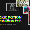 カラフルながらもアーティスティックな演出がスタイリッシュな印象を与えるPhotoshopアクションまとめ「Toxic Potion Glitch Actions」