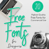 クリエイターの為の美しく使いやすい最新フリーフォントまとめ「20 Fresh Free Fonts for Creative Designers」