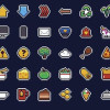 ピクセルで作られたPOPなアイコンセット「Mario Pixel Icon Collection」
