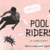 個性的な印象でインパクトを与えるタイポ&ベクターセット「Pool Riders Typeface + Bonus Vector Cut-Outs」