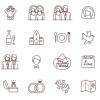 ウェディングに活用できる24のフリーアイコンセット「24 Free Wedding Icons」