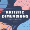 花を抽象的にイメージしたパターン素材「Art Dimension abstract patterns」