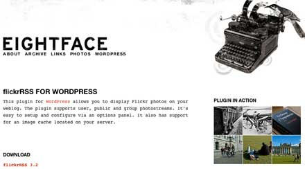 FlickrをWordpressにサムネイル表示