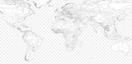 photoshopのシェイプで描かれた世界地図。割と細かいところまで表現されています。