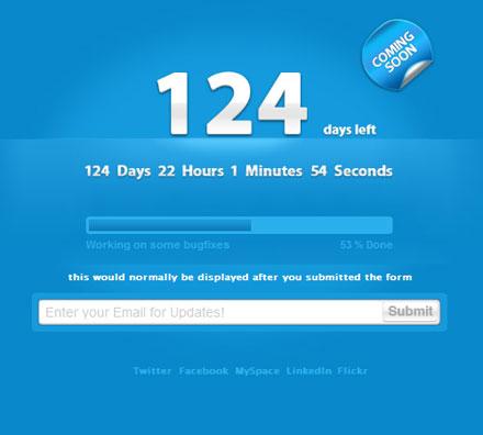 18-clean-countdown-timer