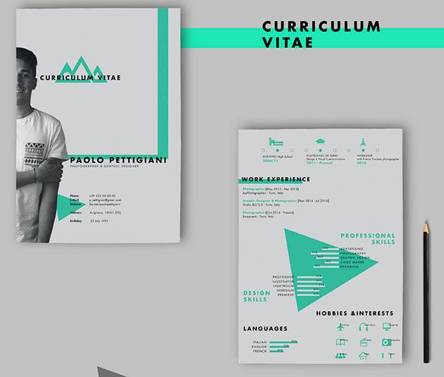 20 beautiful free resume self promotion free cv on behance yelopaper Images
