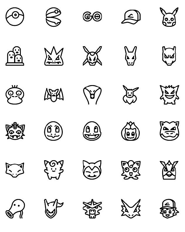 Pokemon-Line-icons