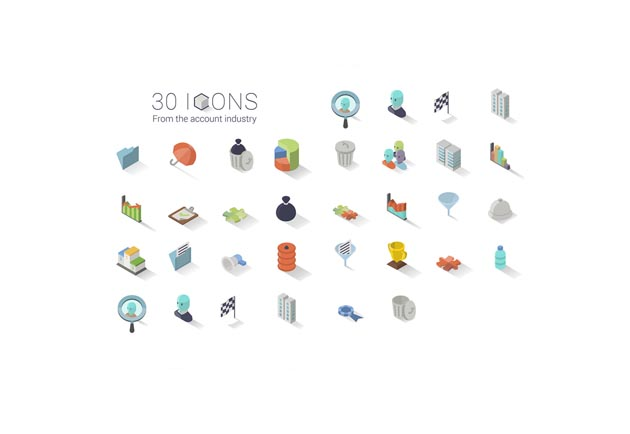 30 ISOMETRIC ICON