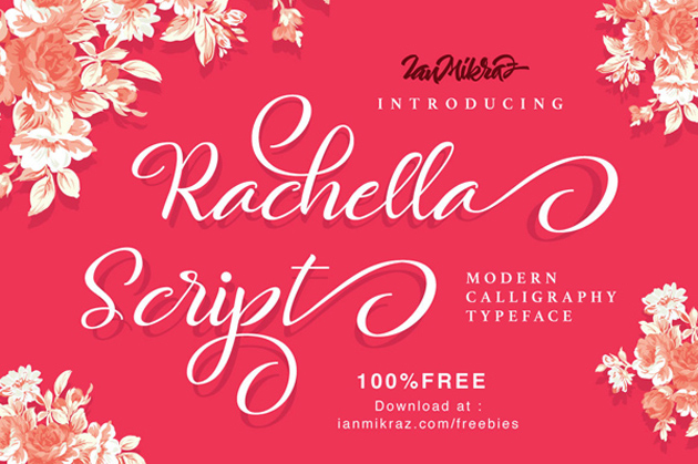 Rachella_Script_free_font