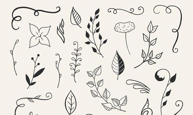 110-Hand-Drawn-Floral-Elements-0