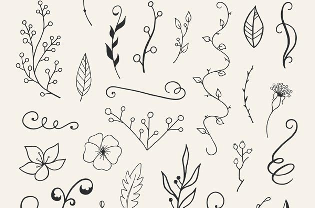 110-Hand-Drawn-Floral-Elements-1