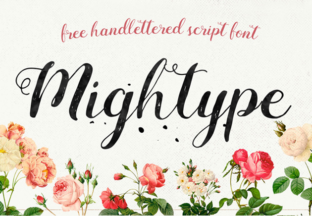 Mightype_Script_free_font