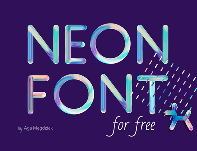 Neon+free+font_top