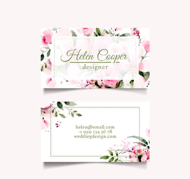 floral-business-card