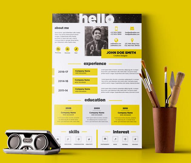 クリエイティブなデザインで個性をアピールすることができる履歴書シート