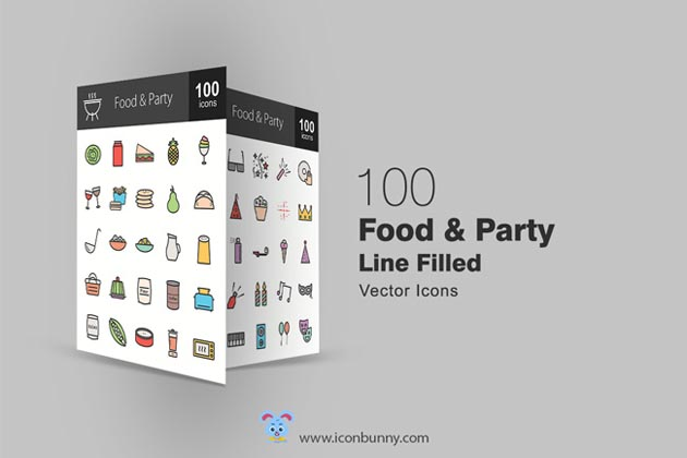 100FreeFoodandPartyIcons_top