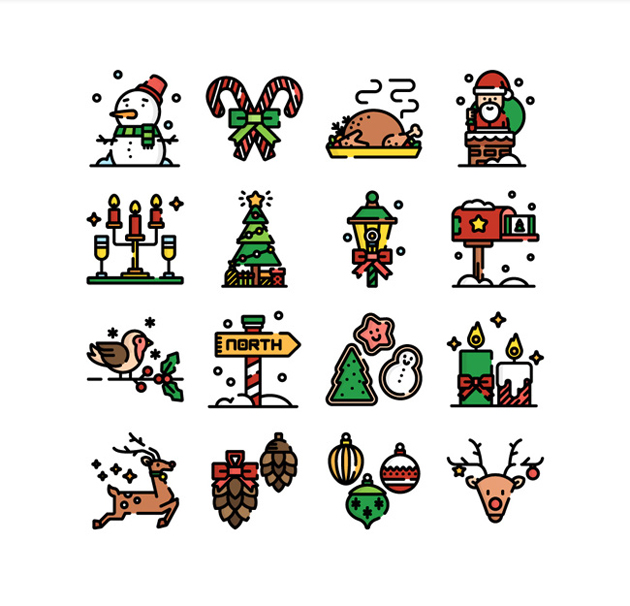50-new-free-christmas-icons